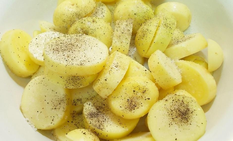 Кабачки с картофелем в сливках