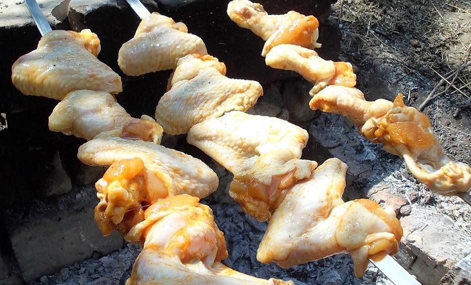 Шашлык из куриных крылышек
