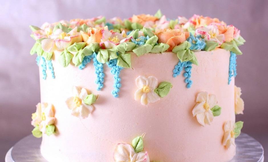 Украшение тортов кремом в домашних условиях
