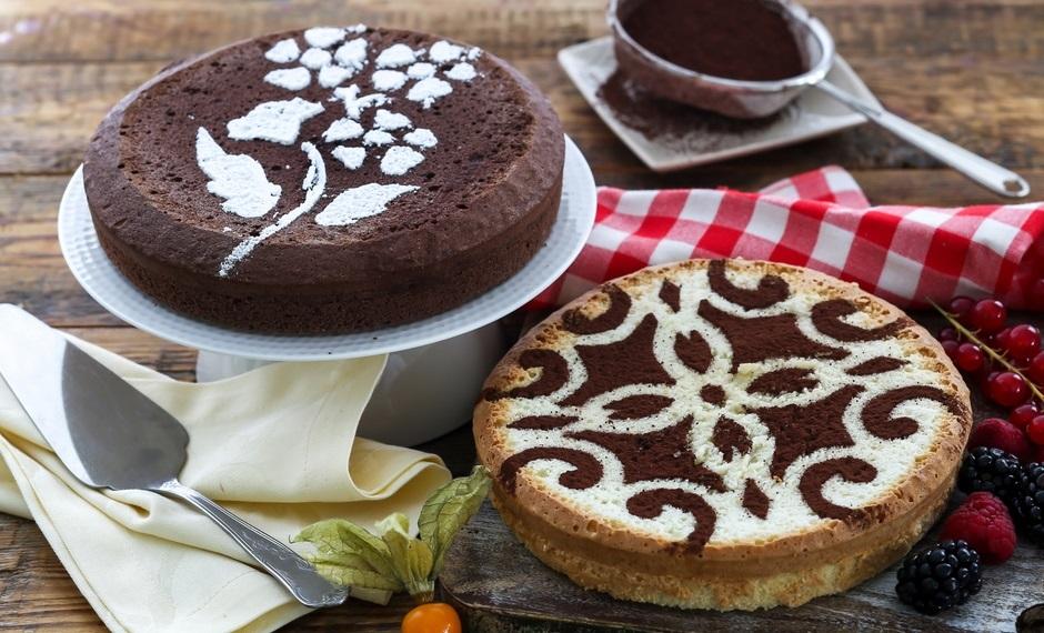 Трафареты для украшения тортов