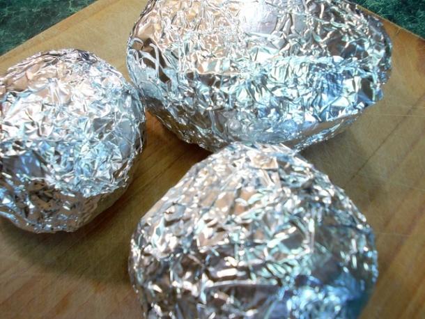 Печеный картофель с баклажанами