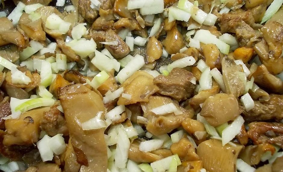 Суп с грибами и мясом