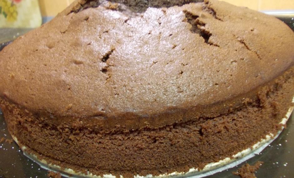 Шоколадный масляный бисквит