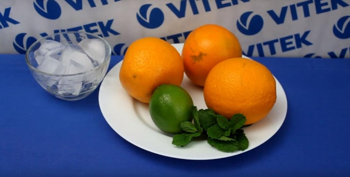 фото апельсин лайм мята