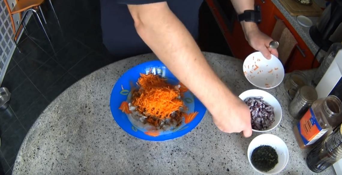Фото морковь специи филе судак