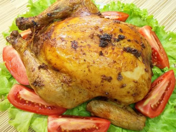 Курица целиком с яблоками в духовке рецепт пошагово