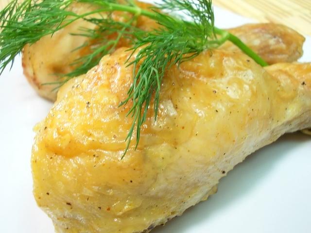 Куриная голень с гречкой в духовке рецепт